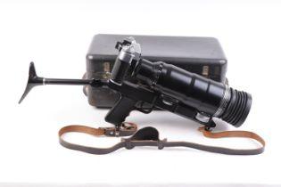 Vintage Zenit-ES 35mm SLR Photo Sniper (USSR) in original steel transport case