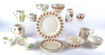 A group of late 20th Century pottery tableware predominantly by Emma Bridgewater, to include 'Robin'