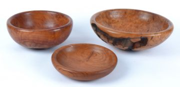 Paul Swan (Contemporary British) an Australian York Gum Burr turned bowl with natural formations,