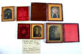 A Victorian portrait miniature executed in oil upon card of 'Mrs England', daughter of John Fisher
