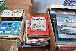 An extensive collection of Naval related books, covering various types of craft in different