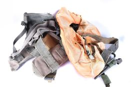 A Military life jacket, together with a selection of AM marked webbing and pouches, a No.4 MkII