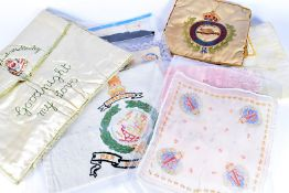 An assortment of War Period silks and embroideries, including Royal Artillery, The Pioneer Corps,
