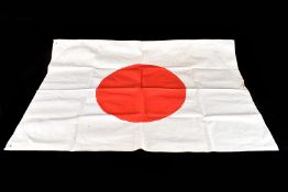 A WWII Japanese Flag of The Rising Sun, hanger holes to two of the corners, approx. 85cm x 59cm