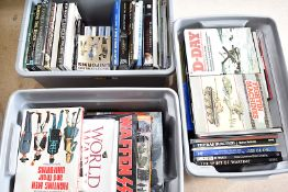 An extensive collection of military related books, from D-Day, to the Germans, Uniforms to different