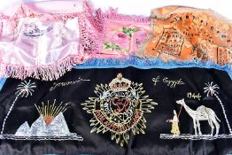 A WWII Royal Army Service Corps embroidery, together with a selection of other military silks,