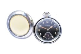 A military issue Leonidas pocket watch, marked with broad arrow G.S.T.P T1173 to reverse, in