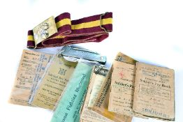 Two WWII Canadian Soldier's Pay books, for Philip Dominic Romano B21246, together with overseas