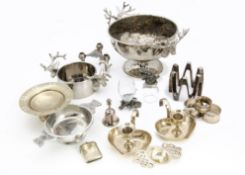 A large collection of silver plate, including a part canteen of cutlery, various flatware and