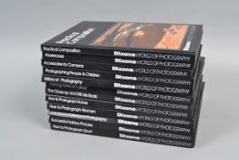Twelve Volumes of Dixons World of Photography Books, titles include How to Photograph Sport, How
