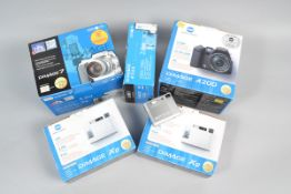 Minolta Digital Cameras, a Minolta Dimage 7, A200, Xg (2) and an E223, all in makers boxes, with