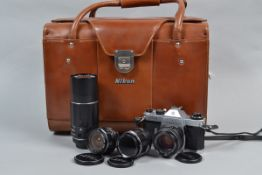 An Asahi Pentax ES II SLR Camera with SMC Takumar Lenses, an ES II camera, serial no 6741796,