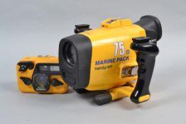 A Sea & Sea Camera and a Sony Handycam Marine Pack, a Sea & Sea Motormarine 35 underwater film