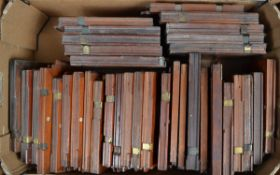 A Large Quantity of Mahogany DDS Plate Holders, mainly half plate (6½ x 4¾in), two Thornton