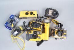Underwater Cameras, including SeaLife Reelmaster CL, DC600, Sea & Sea MX-5, Motor Marine 35, Minolta