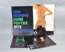 Camera Manufacturer's Calendars, Asahi Pentax - Helmut Newton, 1976, Sam Haskins, 1973, 1975, Sam