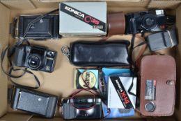 A Kodak Vollenda and Other Cameras, a Kodak Vollenda 620 roll film folding camera, 6 x 9cm format,