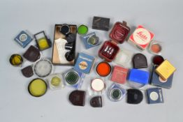 A Collection of Filters, boxed and loose filters, empty filter boxes, various sizes, makers