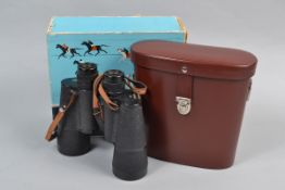 Carl Zeiss Jena Jenautic 7 x 50 Binoculars, serial no 4832555, focus action smooth, body F, two