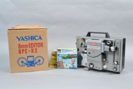 A Eumig Mark-S-709 Super 8 and 8mm Sound Projector, dual format, maker's label unstuck from cover,