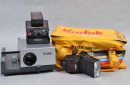A Polaroid SX-70 Instant Camera and Other Items, a Polaroid SX-70 Land Camera Model 2 with maker's