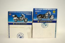 Two Franklin Mint 1:10 scale Harley Davidson motorcycle models, 2003 Ultra Classic Electra Glide