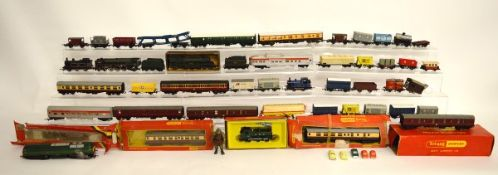A large collection of Hornby OO and Hornby Triang, including an airfix Wild West Adventure Train