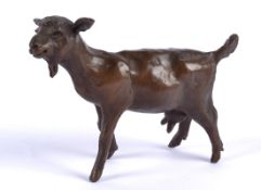 Rosalie Johnson (Contemporary British) a bronze study of a strolling goat, a limited edition of