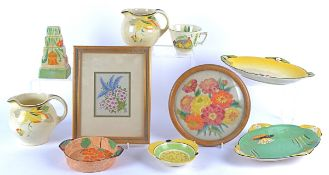 A large quantity of Carlton Ware pottery 'Salad Ware' moulded as leaves flowers and berries,