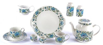 A Midwinter part dinner service in the Spanish Garden pattern, to include a coffee pot, various
