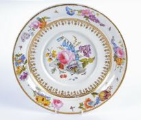 A 19th Century Derby porcelain dish from the Nottingham Road period (1806-1825), with overglaze