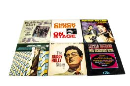 Rock n Roll LPs, approximately eighty albums and a box set of mainly Rock n Roll with artists