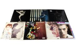 David Bowie LPs, eight albums comprising Blackstar (in opened shrinkwrap), Stage (Double - Both
