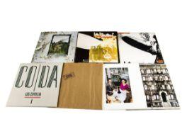 Led Zeppelin LPs, seven albums comprising Led Zeppelin and Led Zeppelin II (Both plum / maroon
