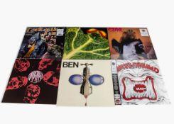 Progressive Rock LPs, ten reissue albums of mainly Progressive and Heavy Rock comprising Ben - S/