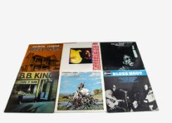 Blues LPs, approximately sixty albums of mainly Blues with artists including B B King, John Lee