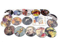 David Bowie Picture Discs, sixteen picture discs comprising the 'Fashions' ten disc set, Survive, Be