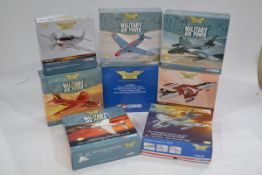 Corgi Aviation Archive 1:72 Scale Military Jet Aircraft, eight boxed limited edition examples,