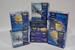 Corgi Aviation Archive 1:72 Scale WWII American Aircraft, nine boxed limited edition examples,