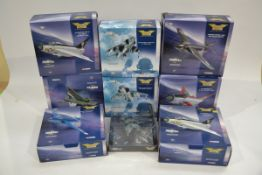Corgi Aviation Archive 1:72 Scale Jet Fighter Power Series Aircraft, nine boxed limited edition