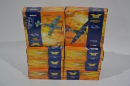 Corgi Aviation Archive 1:72 Scale WWII Aircraft, nine boxed limited edition examples, comprising