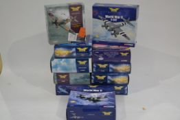 Corgi Aviation Archive 1:72 Scale WWII Aircraft, eleven boxed limited edition examples, comprising