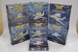 Corgi Aviation Archive 1:144 Scale Military Aircraft, seven boxed limited edition examples