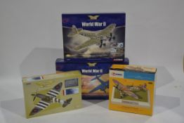 Corgi Aviation Archive 1:72 Scale WWII Aircraft, four boxed limited edition examples including