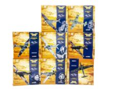 Corgi Aviation Archive 1:72 Scale WWII Flying Aces, eight boxed limited edition examples, comprising