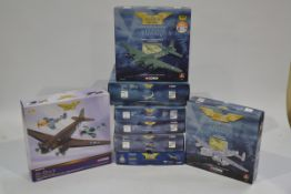 Corgi Aviation Archive 1:144 Scale WWII Aircraft, eight boxed limited edition examples, comprising