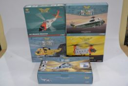 Corgi Aviation Archive 1:72 Scale Helicopters, five boxed limited edition examples, AA33404 Westland