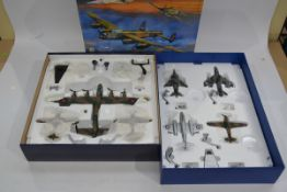 Corgi Aviation Archive 1:72 Scale Battle Of Britain Memorial Flight Set and RAF 4 Piece Set, a boxed