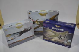 Corgi Aviation Archive 1:72 Scale WWII Aircraft, three boxed limited edition examples including