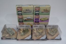 Corgi WWII 1:50 Scale Tanks and Half Tracks, a group of ten comprising WWII Legends (bubble packed
